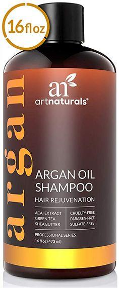 ArtNaturals Argan Hair Growth Shampoo - (16 Fl Oz / 473ml) - Treatment for Hair Loss, Thinning & Regrowth - Men & Women - Infused with Biotin, Argan Oil, Keratin, Caffeine