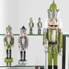 Green and silver Nutcrackers