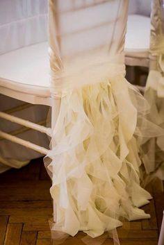 วิธีประดับเก้าอี้ในงานแต่งงาน