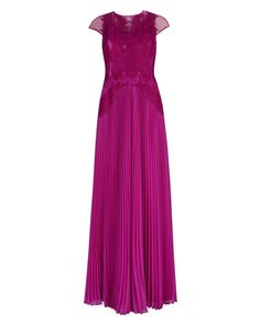 LUMINA - Feather applique maxi dress
