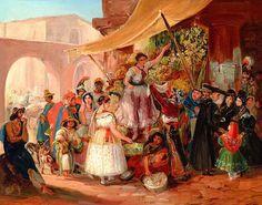 """""""A rainha do mercado"""", de Johann Moritz Rugendas - 1883"""
