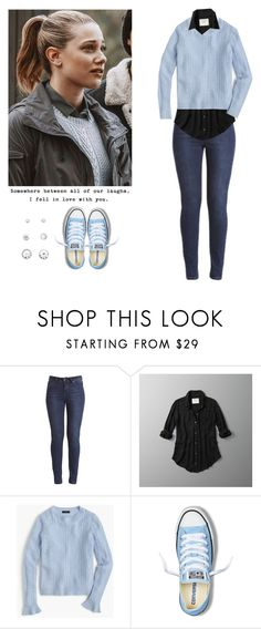 """Betty Cooper - Riverdale"" by shadyannon ❤ liked on Polyvore featuring Abercrombie & Fitch, J.Crew, Converse and Love Quotes Scarves"
