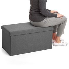 Poppin Dark Gray Box Bench | Cool and Modern Office Supplies and Furniture #workhappy