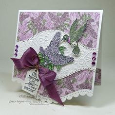 Stamps - Our Daily Bread Designs Sentiments Collection 3, Hummingbird, Lilac, ODBD Blooming Garden Paper Collection, ODBD Custom Recipe Card and Tags Die, ODBD Custom Hummingbird Die