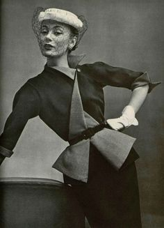 Jean Desses Spring 1951-oh how I would wear that jacket all the time!