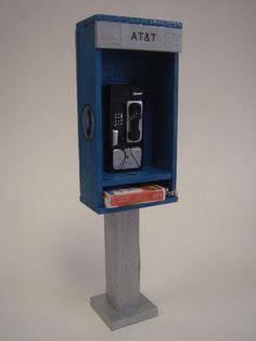 Miniature phone booth.