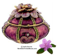 Trinket Box: Flower- Zinnia