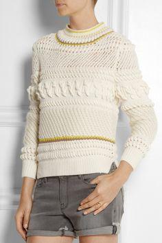 Chloé|Textured wool-blend sweater|NET-A-PORTER.COM