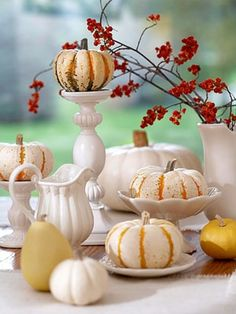 white pumpkin decoration