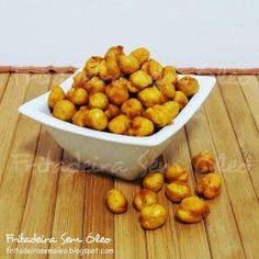 Snack de Grão-de-Bico Frito na AirFryer - Fritadeira sem Óleo - AirFryer