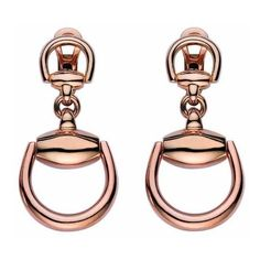 Gucci Horsebit 18kt Rose Gold Earrings (4 205 AUD) ❤