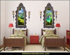 Turn any room into an enchanted castle straight out of a classic story book with this fun set of castle bricks wall decals. Medieval-Knights & Dragons decorating ideas - knights castle decor - knights and dragons theme rooms - dragon theme decor - prince decor - medieval castle wall murals - knights and dragons baby bedding - Knights Medieval bedding - dragon bedding - dragon murals - dragon themed bedroom ideas