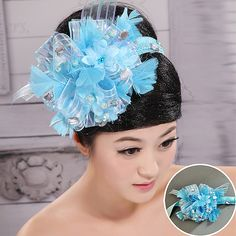 The bride blue flower head