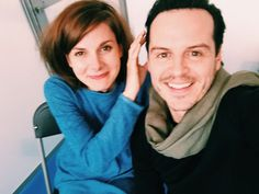 Louise Brealey and Andrew Scott