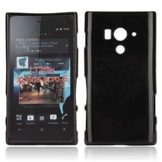 Glitter Shell (Sort) Sony Xperia Acro S Deksel
