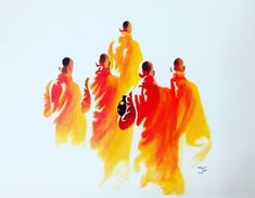 Buy Way To Peace artwork number a famous painting by an Indian Artist Mrinal Dutt. Indian Art Ideas offer contemporary and modern art at reasonable price. Modern Art Paintings, Buy Paintings, Beautiful Paintings, Buddha Canvas, Buddha Art, Art Sketches, Art Drawings, Zen, Watercolor Paintings For Beginners