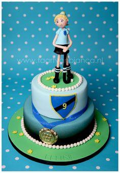 hockey girl, cake made by taart van Bianca