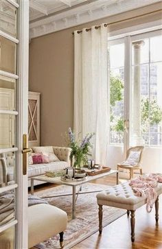 Eye For Design: Decorate Neutral Interiors With A Delicate Touch Of Color