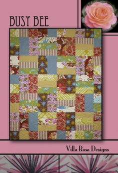 BUSY BEE  45x 54  10 Fat Quarters.....Binding 1/2 yd