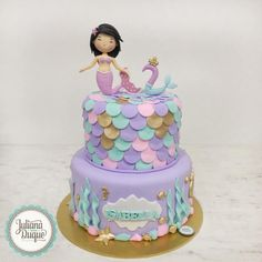 Brand-new ideas about Princess Birthday Decorations Mermaid Birthday Cakes, Little Mermaid Birthday, Little Mermaid Parties, Mermaid Cakes, First Birthday Cakes, Barbie Birthday, Girl Birthday, Princess Birthday, Birthday Ideas