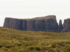 Our campsite on the 2 day overnight hike to the Amphitheatre. The Devils tooth ahead. Day Hike, Campsite, Monument Valley, South Africa, Remote, Trail, Hiking, Tooth, Easy