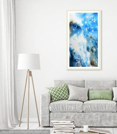 Cristina Dalla Valentina - Mystic Waterfall - www.cristinadallavalentina.com #painting #acrylic #ink #landscape #abstract #artwork #hill