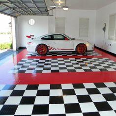 RaceDeck CircleTrack Tile - 12L x 12W in. - Flooring at Hayneedle