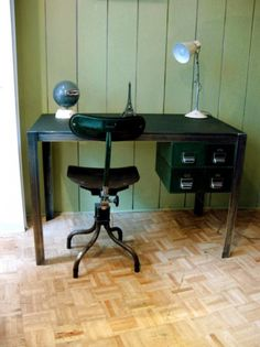 Vintage Steel desk — Pigeon Vintage Furniture