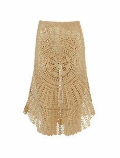 Hand knitted crochet skirt!!!!
