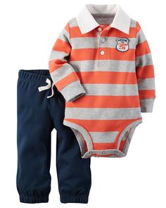 Baby Boy 2-Piece Bodysuit & Pant Set from Carters.com. Shop clothing & accessories from a trusted name in kids, toddlers, and baby clothes.