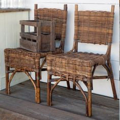 Rattan Bistro Chair, Set of 2
