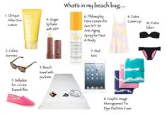 what's in my beach bag...