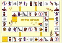 """Playing field """"In the circus"""" After several times the request for a DaZ variant of yesterd Clown Crafts, Irish Language, Le Clown, English Games, Creative Box, Toddler Play, Old Games, Le Web, Diy Toys"""