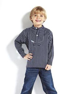 unser maritimes Kinder Fischerhemd www.modeszene.de