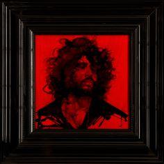 Bearded Man I  - Encre et Acrylique sous Perspex - 53 x 53 cm (hors cadre)