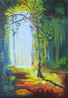 Полянка, пейзаж, дерево