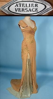 A gown worn by Whitney Houston