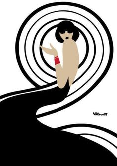 Bally Swirl Vintage Poster Retro Print Poster - French, Vintage, Art Deco