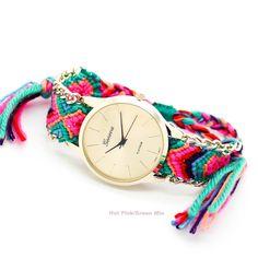 Friendship bracelet watch (4 colors)