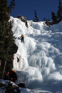 Frozen, Tangle Falls, Alberta, Canada as seen along the Icefield Parkway. The waterfall is 100 feet high .