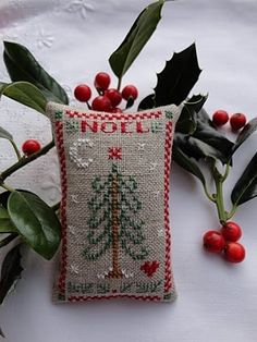 Red, green and Burlap Tree