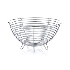 Carter Stainless Wire Fruit Basket | Crate and Barrel