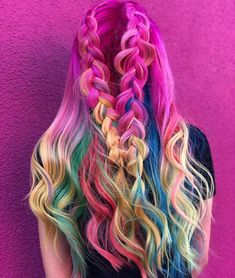 32 Delightful Long Pink Braids To Create in 2018 Braided Hairstyles For Wedding, Funky Hairstyles, Pretty Hairstyles, Baddie Hairstyles, Everyday Hairstyles, Prom Hairstyles, Hair Color Pink, Hair Dye Colors, Cool Hair Color