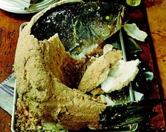 Whole Striped Bass Baked in Salt Crust Recipe