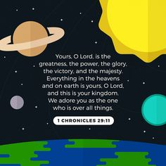 Eeery'thing is His How To Be Rich, Todays Verse, Yes And Amen, 1 Chronicles, Amplified Bible, Be Exalted, God Will Provide, Word Pictures