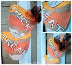 Halloween Craft: Trick or Treat Door Hanger