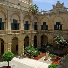 One of the courtyards in the Grand Master's Palace - Malta