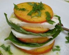 Peach and Mozzarella Salad with Lime Vinaigrette - southern version of caprese