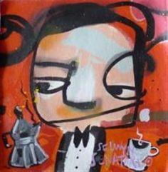 Kunstwerk: Ten Gangsters VIII van kunstenaar Selwyn Senatori Gangsters, Disney Characters, Fictional Characters, Abstract Art, Vans, Paintings, Portrait, Drawings, Modern