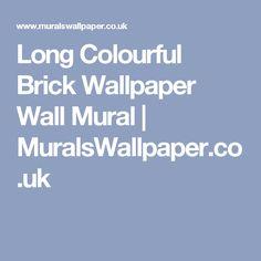Long Colourful Brick Wallpaper Wall Mural | MuralsWallpaper.co.uk